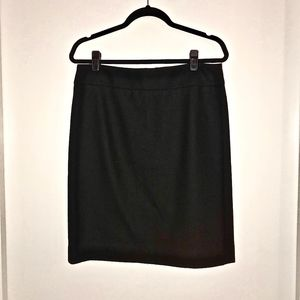 J.Crew Wool Pencil Skirt (Black, size 8)